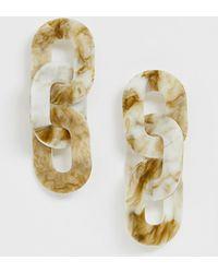 ASOS - Earrings In Linked Resin Design - Lyst