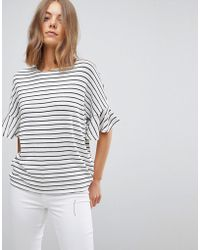 Vero Moda - Knitted Top With Fluted Sleeve - Lyst