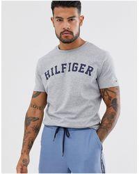 Tommy Hilfiger - Logo Crew T-shirt Grey - Lyst