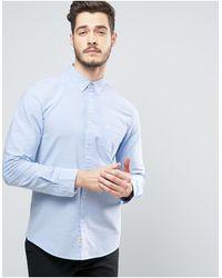 Jack Wills Wadsworth Regular Fit Oxford Shirt In Sky - Blue