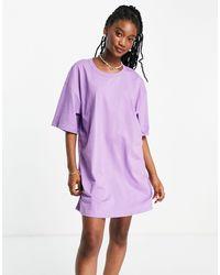 ASOS - Vestito camicia oversize viola - Lyst