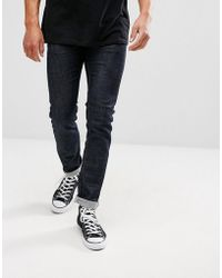 Lindbergh - Tapered Raw Stretch In Blue - Lyst