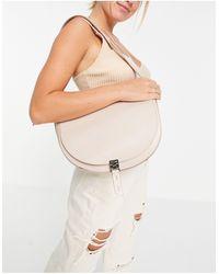 Reiss Hurlingham Textured Leather Shoulder Bag - Grey