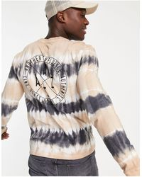 Another Influence Tie-dye Logo Long-sleeved T-shirt Co-ord-neutral - Multicolour