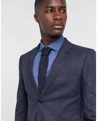 Moss Bros Moss London Suit Jacket - Blue