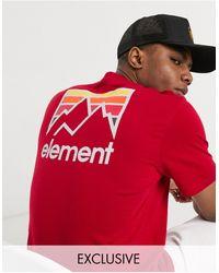 Element - Красная Футболка Эксклюзивно Для Asos-красный - Lyst
