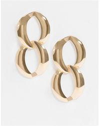 ASOS Earrings With Chain Link Drop - Metallic