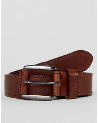 Ted Baker - Tirre Leather Belt With Contrast Stitch - Lyst