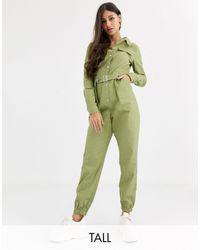 Missguided Utility-jumpsuit - Groen
