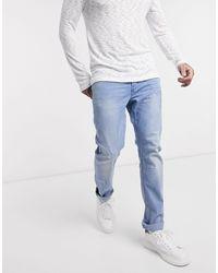 ONLY /& SONS Jeans New Mens Warp Skinny Fit Narrow Leg Denim Pants Black Faded