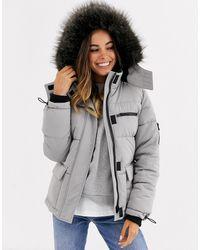 New Look Plumífero de esquí gris claro