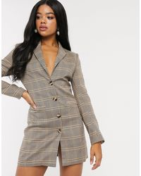 In The Style X Fashion Influx Blazer Dress - Grey