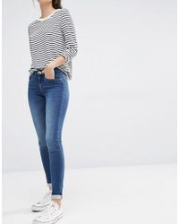 ONLY Royal Reg Rise Skinny Jeans In Blue