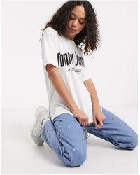 Tommy Hilfiger - Diagonal Logo T-shirt - Lyst