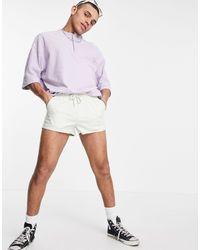 ASOS Skinny Chino Shorter Shorts With Elasticated Waist - Green