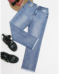 Object Straight Leg Jeans - Blue