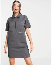 Dr. Denim Utility Dress - Grey