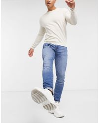 SELECTED Skinny Jeans Organic Cotton - Blue