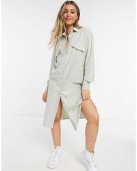 Lola May Maxi Shirt Dress - Green