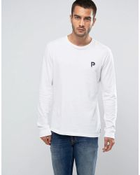 Penfield - Copley Long Sleeve Top P Logo Regular Fit In White - Lyst