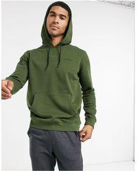 SELECTED Hoodie à logo - Kaki - Vert