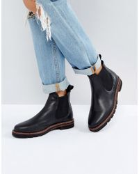 Dune - Quart Leather Chelsea Boots - Lyst