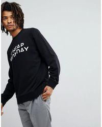 Cheap Monday Worth Sweatshirt With Splice Logo - Black