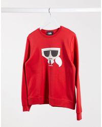 Karl Lagerfeld Kocktail Graphic Sweatshirt - Red