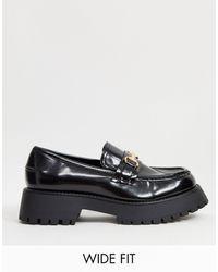 ASOS Monster - Loafers Met Dikke Zool En Brede Pasvorm - Zwart