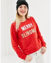 ONLY Merry Blingmas Christmas Sweatshirt - Red