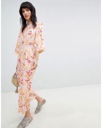 Vero Moda - Floral Jumpsuit - Lyst