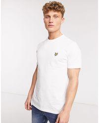 Lyle & Scott - T-shirt bianca con logo - Lyst