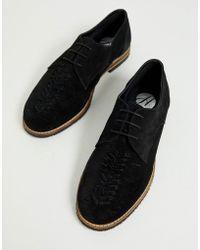 online store 01db5 d2c94 Chatra - Gewebte Schnürschuhe aus schwarzem Wildleder