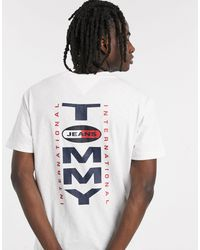 Tommy Hilfiger - Vertical Back Logo T-shirt Relaxed Fit - Lyst