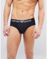Emporio Armani Черные Трусы С Логотипом - Синий