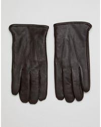 ASOS Leren Touchscreen Handschoenen - Bruin