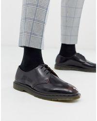 Dr. Martens Вишнево-красные Ботинки С Люверсами - Черный