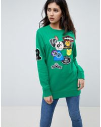 Replay - Long Patch Detail Sweatshirt - Lyst