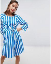 Pieces - Stripe Dress - Lyst