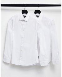 French Connection Набор Из 2 Приталенных Классических Рубашек -белый