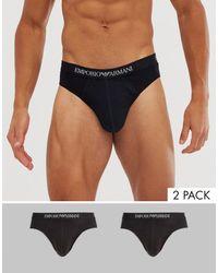 Emporio Armani Set Met 2 Onderbroeken - Zwart