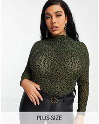 NaaNaa Plus High Neck Bodysuit - Green