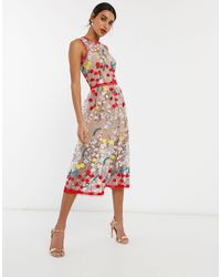 Bronx and Banco Bronx & Banco Ivanka Embroidered Midi Dress - Multicolour