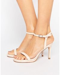 933527f4691 Dolly Heeled Sandals - Natural