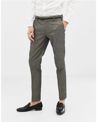 Twisted Tailor Super Skinny Gold Suit Trousers - Metallic