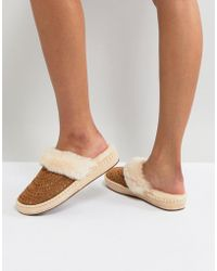 UGG Aira Sunshine Perf Chestnut Slippers - Brown
