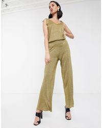 Soaked In Luxury - Pantalon d'ensemble métallisé - Lyst