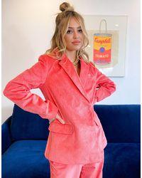 adidas Originals 'comfy Cords' Corduroy Blazer - Pink