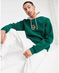 adidas Collegiate Crest Polar Fleece Hoodie - Green