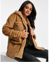 I Saw It First Коричневая Куртка Из Искусственного Меха С Завязками На Талии -коричневый
